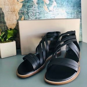 NWT- Black Leather Franco Sarto  Sandals 🌺
